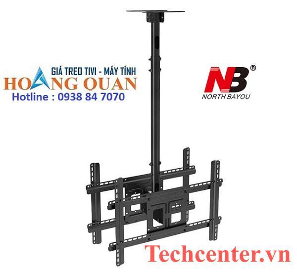 Giá Treo Tivi NB T590-15 Ngược Trần 2 Màn Hình (32