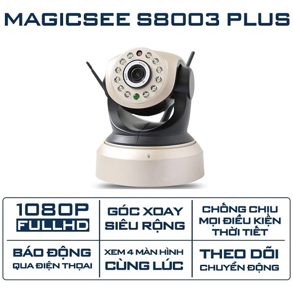 Camera IP Wifi Magicsee S8003 Plus (2MP) Xoay 360 Độ Giá Rẻ