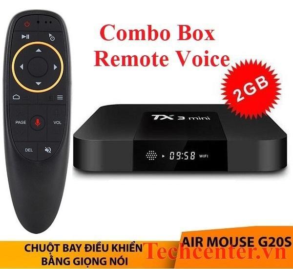 TX3mini + Chuột Bay Voice G20S Điều Khiển Bằng Giọng Nói