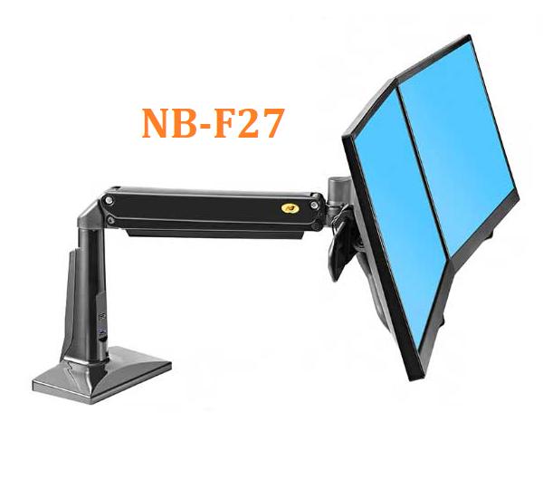 Giá Treo 2 Màn Hình Máy Tính Để Bàn NB-F27 (22