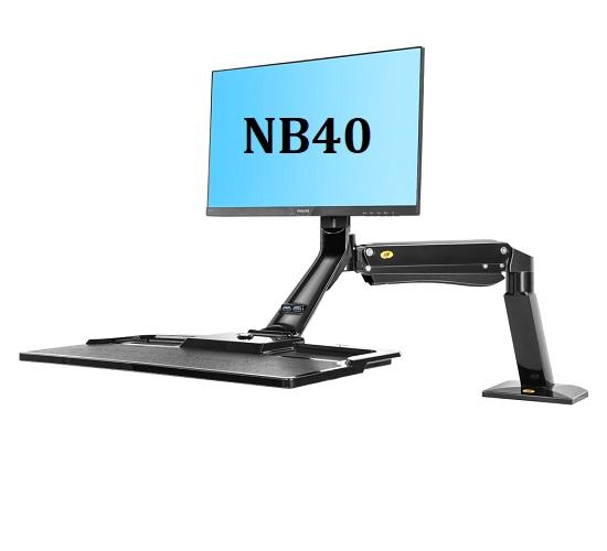 Giá Treo Màn Hình Máy Tính NB40 Kèm Mâm Đỡ Bàn Phím Và Chuột Xoay Đa Năng.