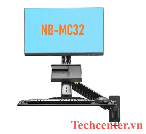 Giá Đỡ Màn Hình Máy Tính Gắn Tường NB-MC32 Kèm Giá Đỡ Bàn Phím
