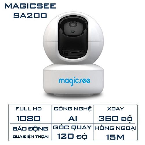 Camera IP Wifi Magicsee SA200 (2MP) Full HD1080 Xoay 360 Độ