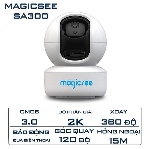 Camera IP Wifi Magicsee SA300 (3MP) Độ Phân Giải QHD 2K Xoay 360 Độ
