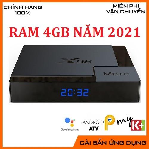 Enybox X96mate Model 2021 Ram4G/32G Bluetooth 5.0 Android 10 Thách Thức Mọi Đối Thủ