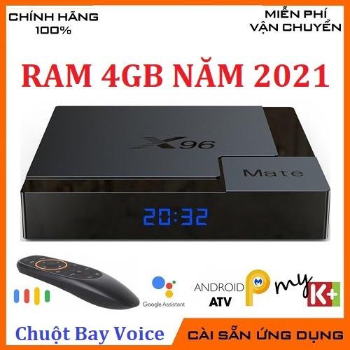 Combo X96mate Ram 4G/32G Android 10 Kèm Chuột Bay Giọng Nói Thông Minh