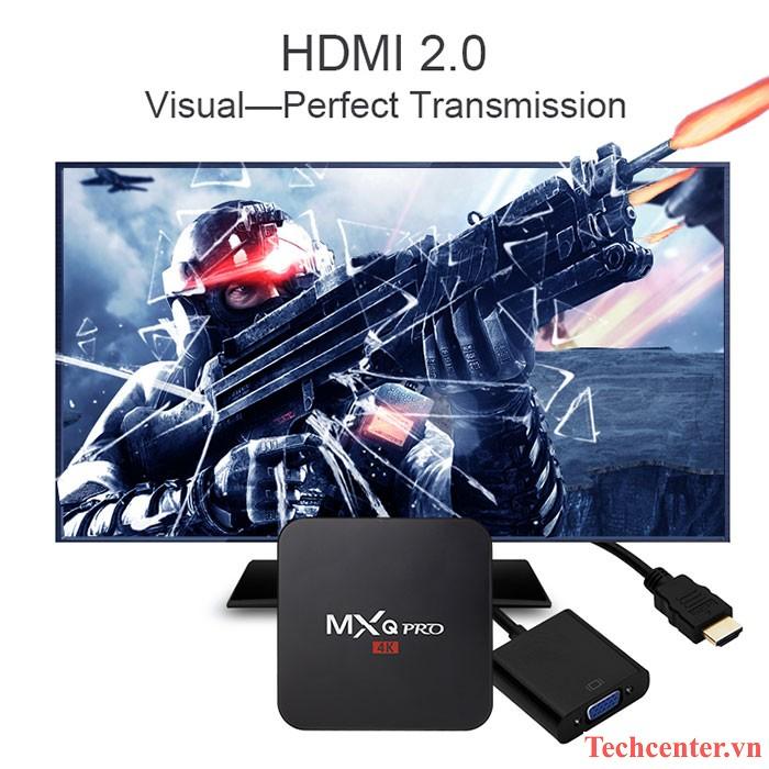 mxq pro 4k android tv box gia re, cau hinh manh: cong hdmi 2.0 (voi cec va hdcp 2.2)